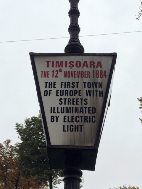 Timisoara had electric street light's right after New York